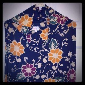 LuLaRoe long floral maxi skirt